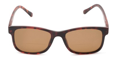 Front of The Peace Polarized Magnetic Bifocal Reading Sunglasses in Tortoise with Amber