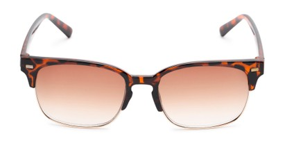 Front of The Pepper Reading Sunglasses in Glossy Tortoise/Gold with Amber