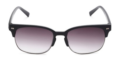 Front of The Pepper Reading Sunglasses in Matte Black/Grey with Smoke
