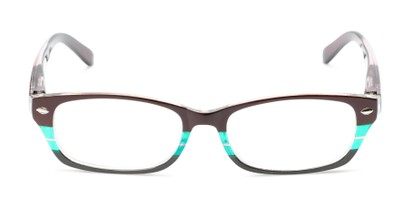 small womens cat eye reading glasses with stripe