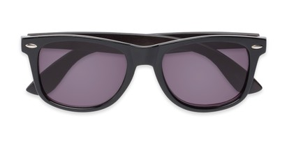 Folded of The Persimmon Reading Sunglasses in Black with Smoke