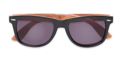 Folded of The Persimmon Reading Sunglasses in Black/Brown with Smoke
