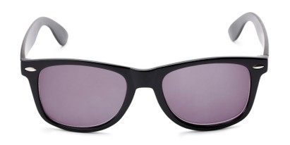 Front of The Persimmon Reading Sunglasses in Black with Smoke