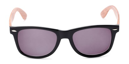 Front of The Persimmon Reading Sunglasses in Black/Brown with Smoke