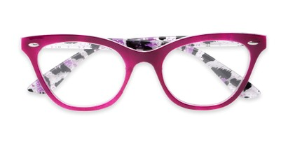 two toned large cat eye frame
