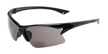 0645d8700c Angle of The Phoenix Bifocal Reading Sunglasses in Black with Smoke