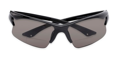 Folded of The Phoenix Bifocal Reading Sunglasses in Black with Smoke