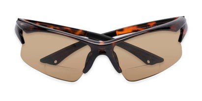 Folded of The Phoenix Bifocal Reading Sunglasses in Tortoise with Amber
