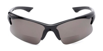 Front of The Phoenix Bifocal Reading Sunglasses in Black with Smoke