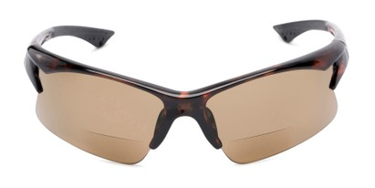 Front of The Phoenix Bifocal Reading Sunglasses in Tortoise with Amber
