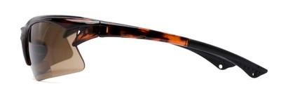 Side of The Phoenix Bifocal Reading Sunglasses in Tortoise with Amber