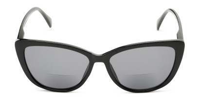 Front of The Picnic Bifocal Reading Sunglasses in Black with Smoke