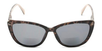Front of The Picnic Bifocal Reading Sunglasses in Brown Leopard with Smoke