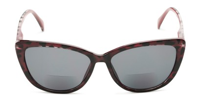 Front of The Picnic Bifocal Reading Sunglasses in Red Leopard with Smoke