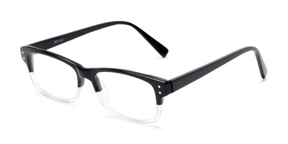 Angle of Pierson by felix + iris in Black Fade, Women's and Men's Rectangle Reading Glasses