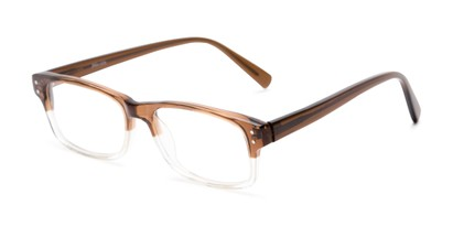 Angle of Pierson by felix + iris in Brown Fade, Women's and Men's Rectangle Reading Glasses