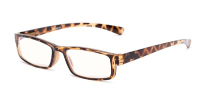 Angle of The Pike Place Computer Reader in Tortoise with Clear, Women's and Men's Rectangle Reading Glasses