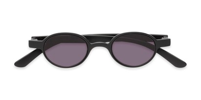 Folded of The Pine Reading Sunglasses in Black with Smoke