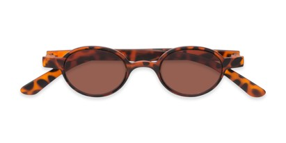 Folded of The Pine Reading Sunglasses in Tortoise with Amber