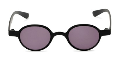 Front of The Pine Reading Sunglasses in Black with Smoke