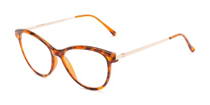 Angle of The Cosette in Tortoise/Gold, Women's Cat Eye Reading Glasses