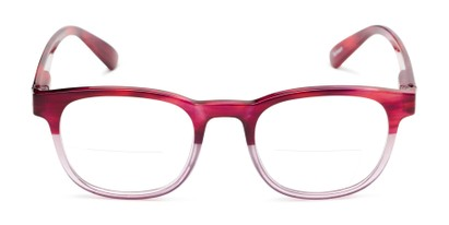 Front of The Poet Bifocal in Red/Pink Fade