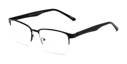 Angle of The Polk Bifocal in Black, Women's and Men's Rectangle Reading Glasses