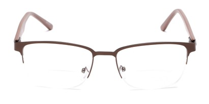 Front of The Polk Bifocal in Bronze/Brown