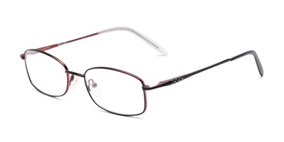 Angle of Pomander by felix + iris in Black/Burgundy Red, Women's Rectangle Reading Glasses
