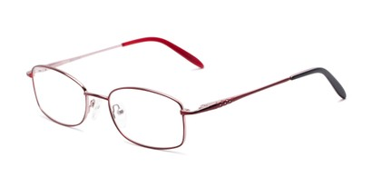 Angle of Pomander by felix + iris in Burgundy Red/Rose, Women's Rectangle Reading Glasses