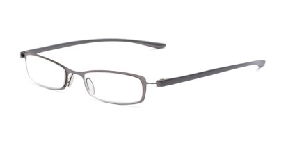 Angle of The Portage in Grey, Women's and Men's Rectangle Reading Glasses