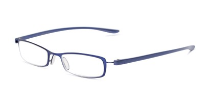 Angle of The Portage in Blue, Women's and Men's Rectangle Reading Glasses
