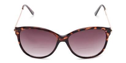 Front of The Posey Bifocal Reading Sunglasses in Tortoise/Gold with Smoke