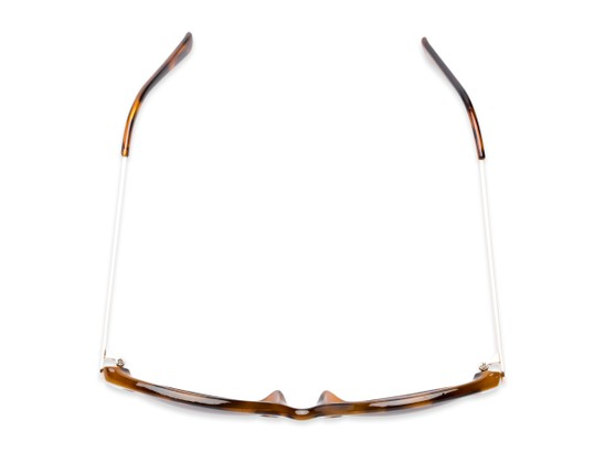 Overhead of The Posey Bifocal Reading Sunglasses in Light Tortoise/Gold with Smoke