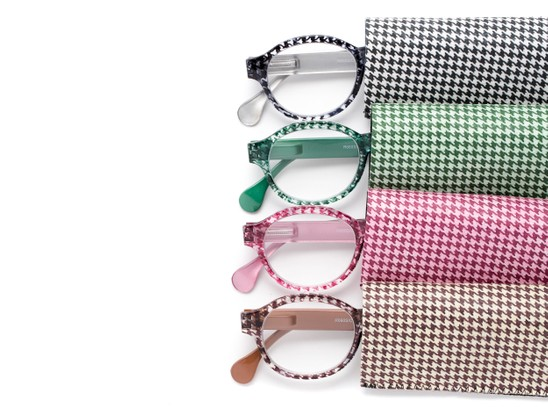 houndstooth printed round readers