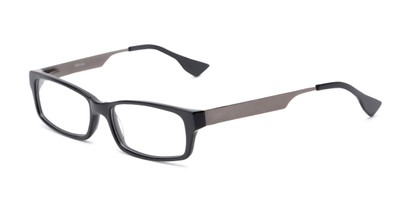 Angle of Prospect by felix + iris in Gunmetal Grey, Women's and Men's Rectangle Reading Glasses