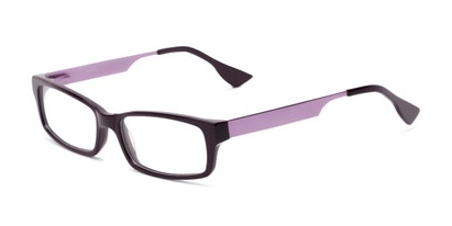 Angle of Prospect by felix + iris in Plum Purple, Women's and Men's Rectangle Reading Glasses