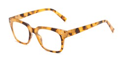 Angle of The Quad in Tortoise, Women's and Men's Retro Square Reading Glasses