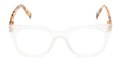 Front of The Quad in Frosted Clear/Brown Tortoise