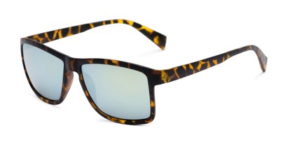 unmagnified mirrored retro square sunglasses