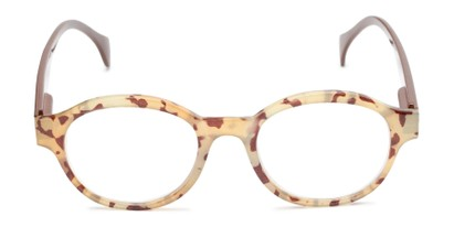Front of The Quincy in Brown Tortoise/Brown Temples