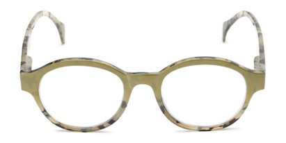 Front of The Quincy in Olive Green Tortoise Fade