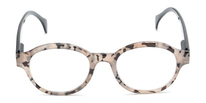 Front of The Quincy in Tan Tortoise/Black Temples