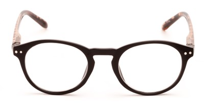 round reading glasses with keyhole bridge