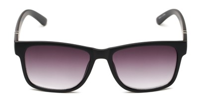 Front of The Royal Reading Sunglasses in Matte Black with Smoke