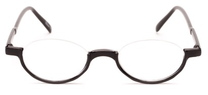 oval semi rimless half reader