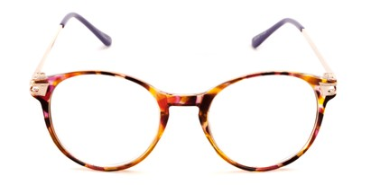 Front of The Lola in Purple/Brown Tortoise