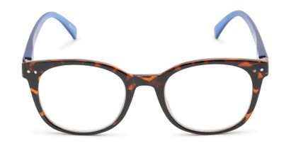Front of The Cotton in Tortoise/Blue