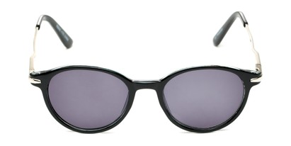 Front of The Geller Reading Sunglasses in Black/Silver with Smoke