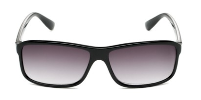 Front of The Rufus Reading Sunglasses in Glossy Black with Smoke